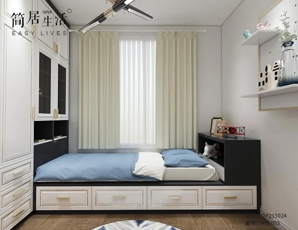 轻奢风卧室软装配色案例