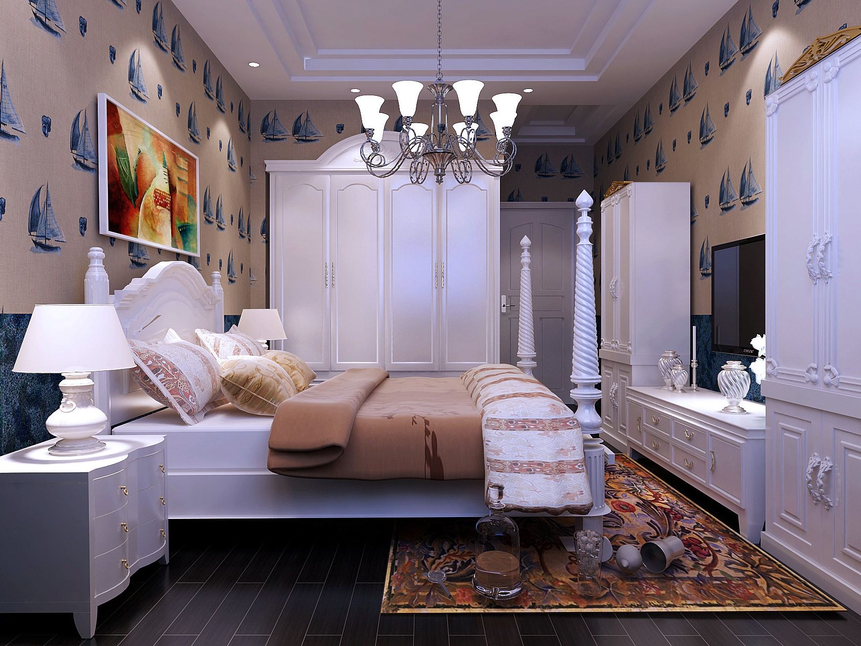 地中海风格卧室家具