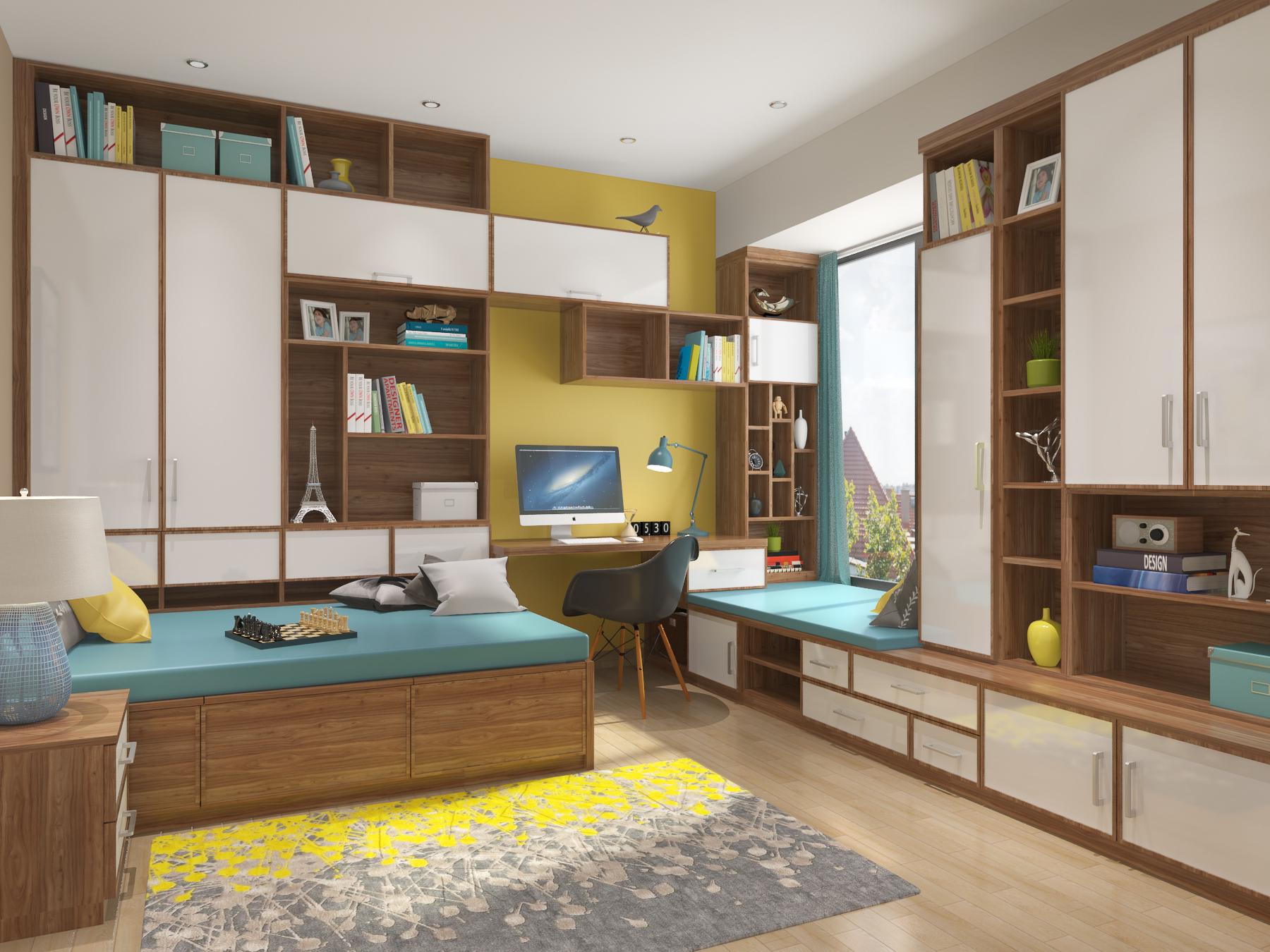 新实用主义书房榻榻米家具