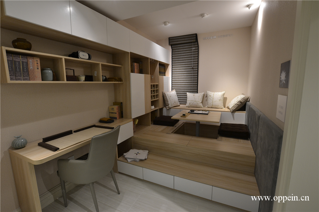 一居室简约风格原木色装修效果图