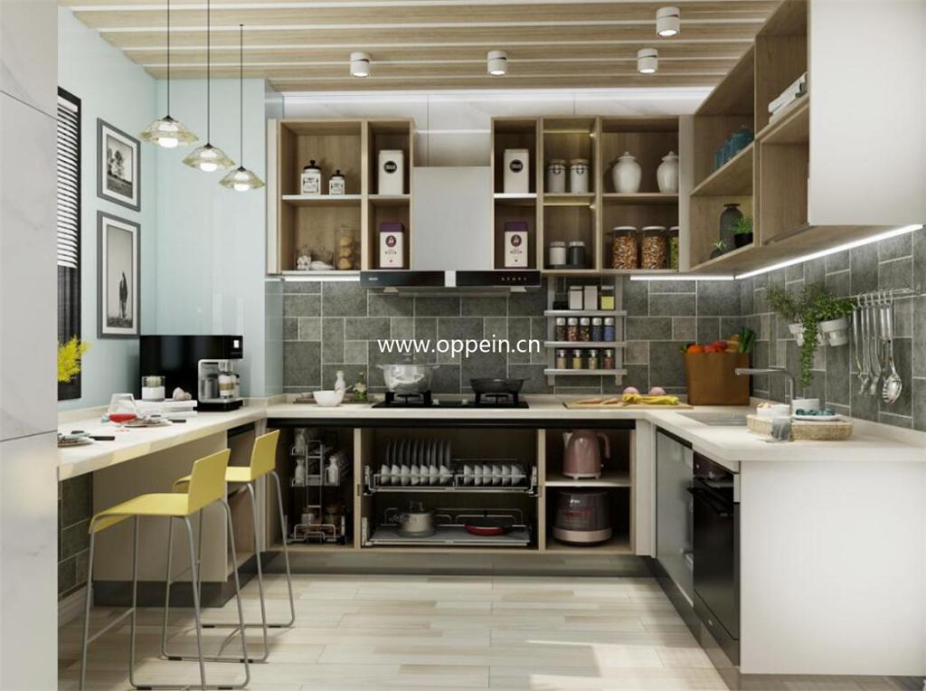 小户型餐厨一体化设计效果图