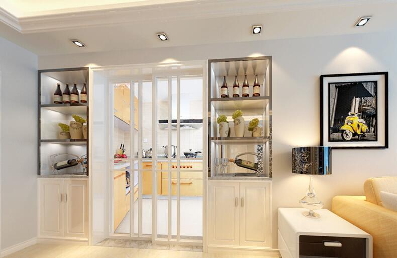 厨房移门带酒柜效果图
