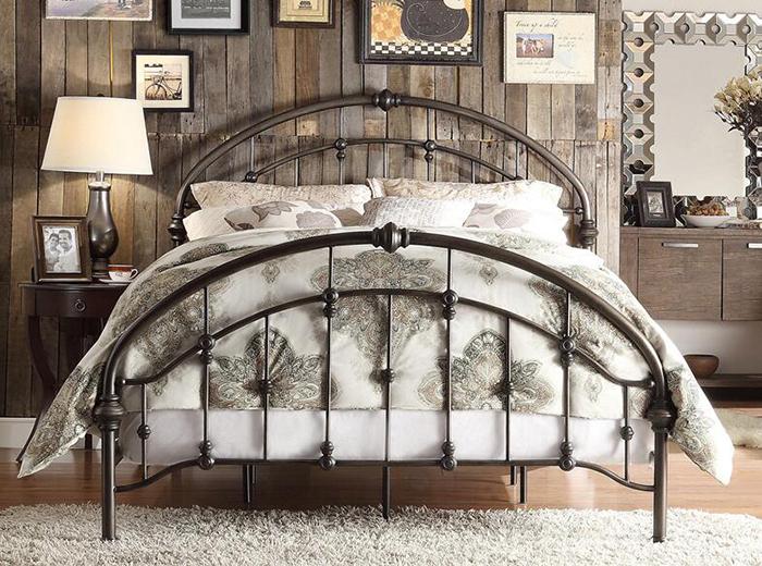 美式铁艺床图片