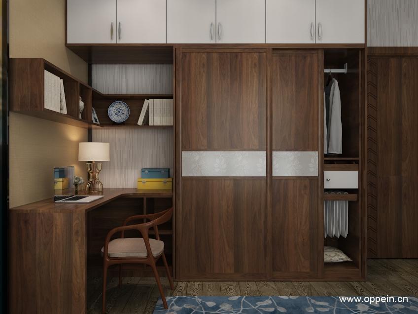 书房衣柜一体设计效果图