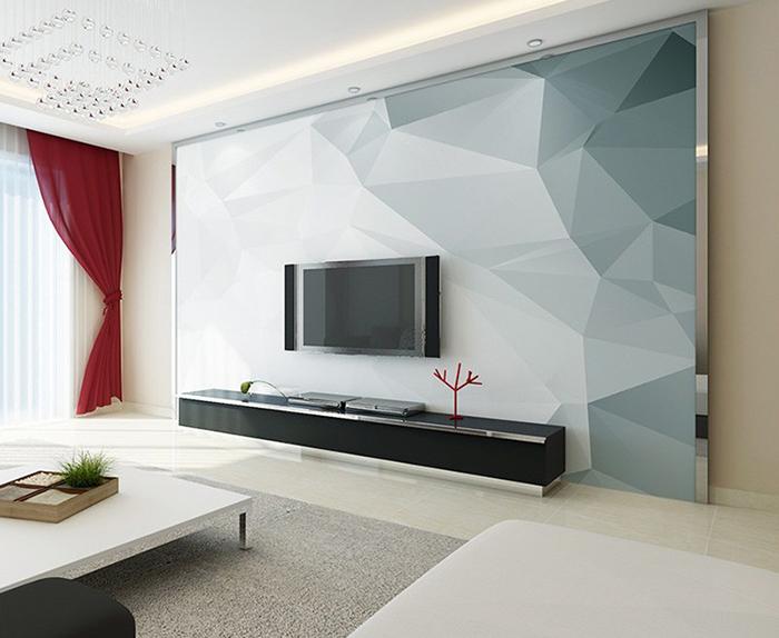 不规则电视背景墙