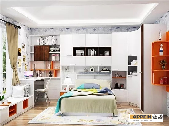儿童卧室书房图片