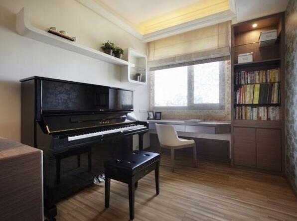 书房钢琴摆放效果图