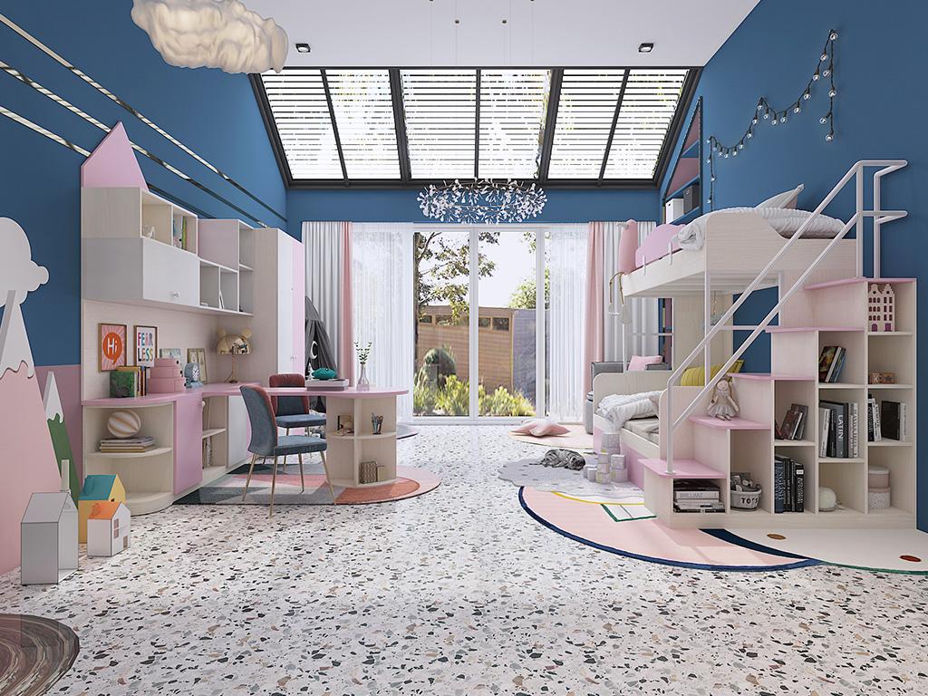 1间房搞定两个娃,这样的儿童房设计,也太实用了吧!